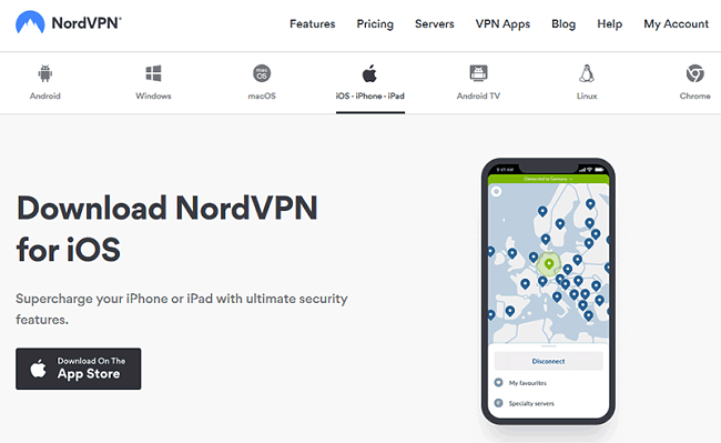NordVPN IOS iPhone