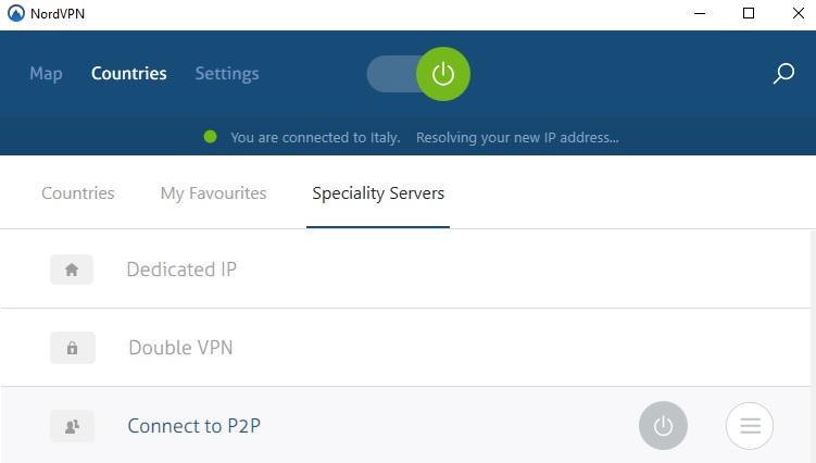 Nordvpn specialty servers