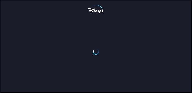 תמונת מסך של Norton Secure VPN לא מצליחה לבטל את החסימה של Disney + עם טעינה אינסופית על מסך ריק