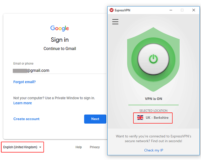 VPN for gmail access China