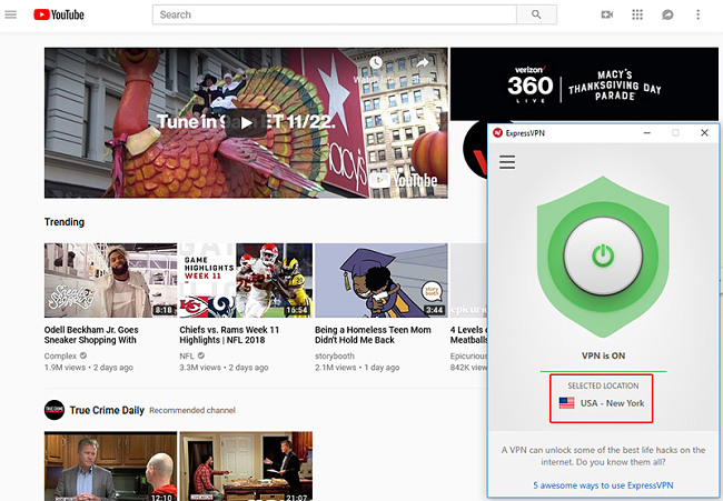 YouTube Express VPN