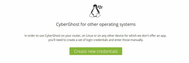 Installing CyberGhost without an App on Android Step 5