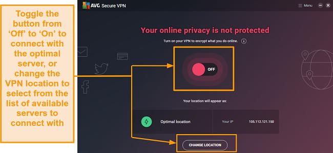 Screenshot of encryption toggle setting.