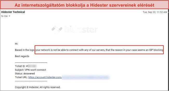Pillanatkép az internetszolgáltató által blokkolt Hidesterről