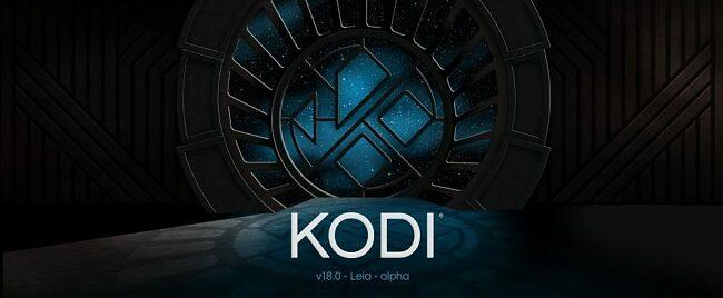 Screenshot of Kodi's v18 Leia for streaming new version of application
