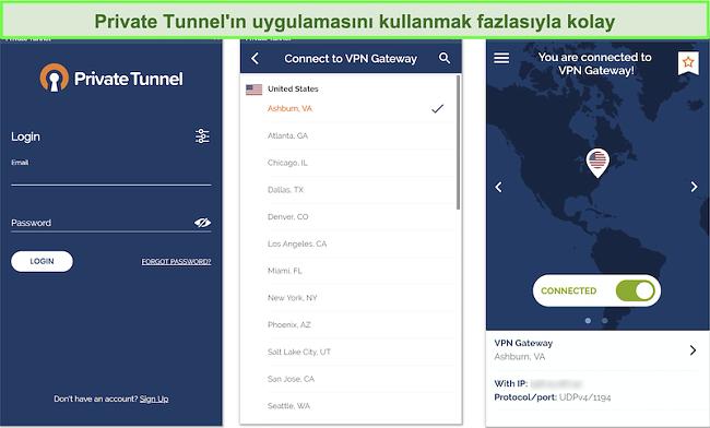 Private Tunnel'ın Android uygulama kurulumunun ekran görüntüsü.