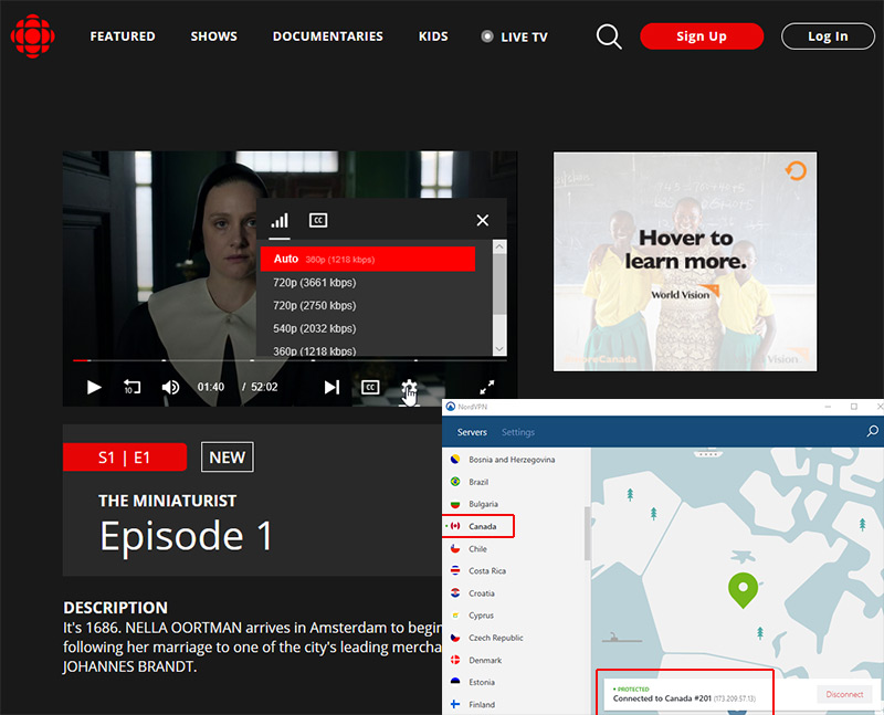 CBC Canada Live TV stream online VPN