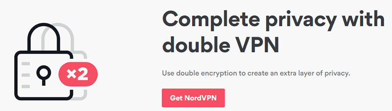 one top-tier VPN provider to offer Double VPN service NordVPN