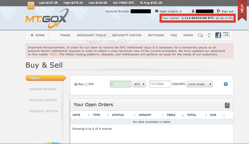 Mt Gox Bitcoin Exchange