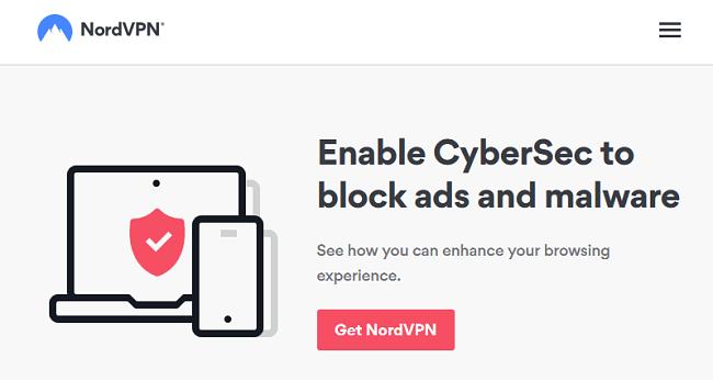 Nordvpn cybersec block ads