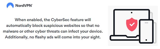 NordVPN cybersec block ads malware