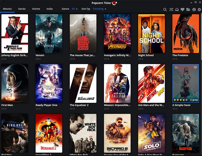 Popcorn Time streams free movies and TV shows online