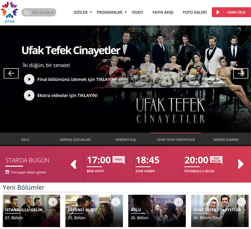 Star TV Turkey stream online vpn