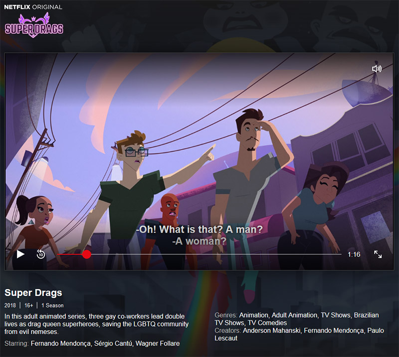 Super Drags animated series