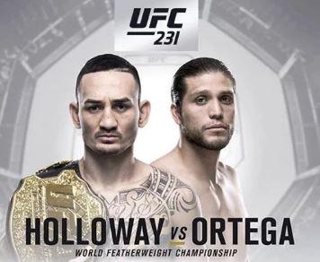 watch UFC 231 – Holloway vs. Ortega