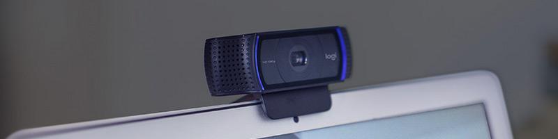 Webcam Logitech blinking
