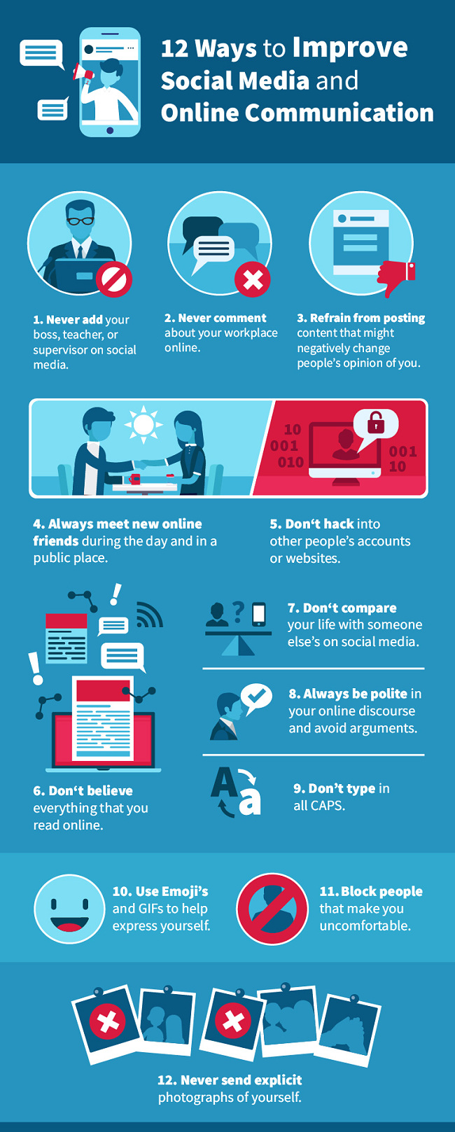 Screenshot of ways to improve social media and online communication