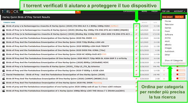 Screenshot di collegamenti falsi su TorLock