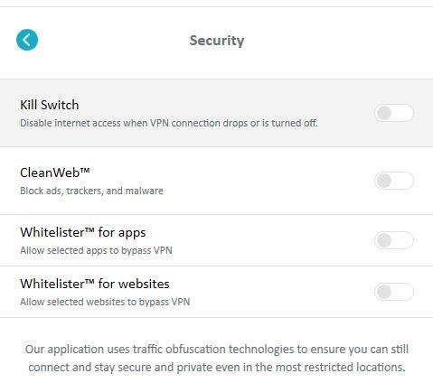 Surfshark security features
