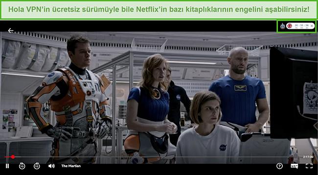 Netflix ABD'de The Martian'ın engelini aşan Hola VPN ekran görüntüsü