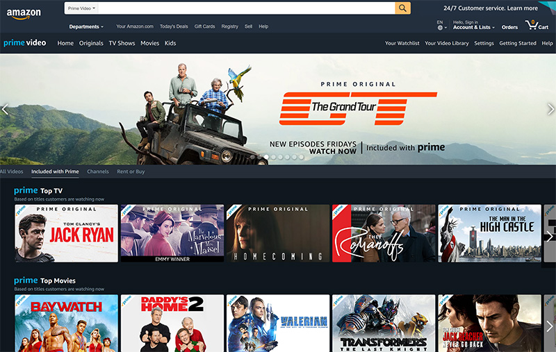 Amazon prime video stream originals vpn
