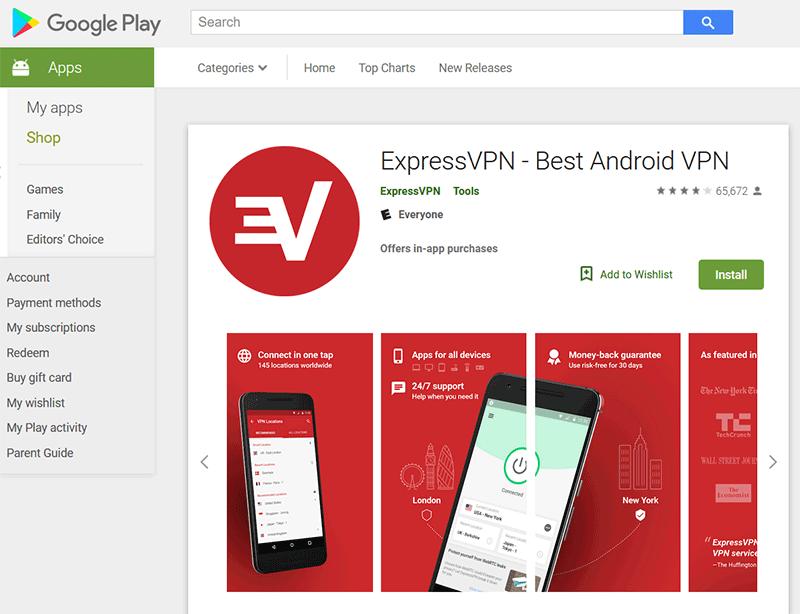 ExpressVPN Google Play App