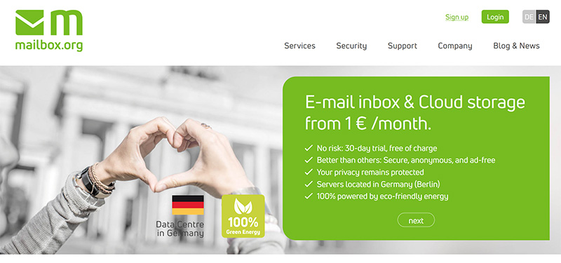 Mailbox_org secure email vpn