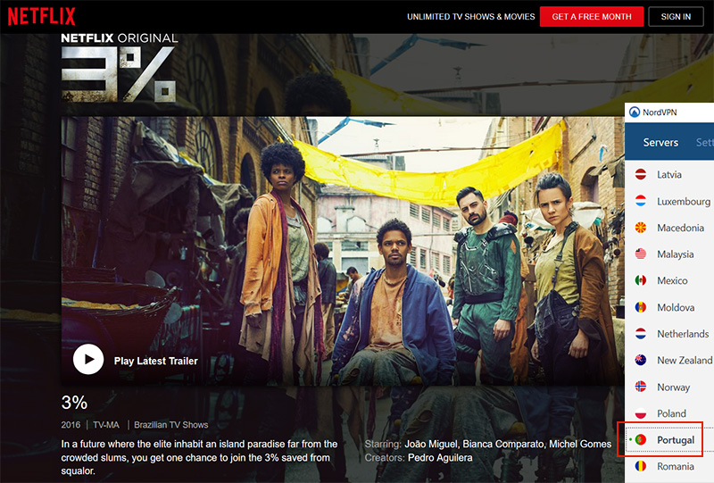 Portugal Netflix unlock vpn