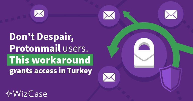 Don't Despair, Protonmail users. This workaround grants access in Turkey Wizcase