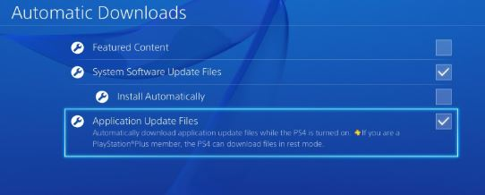 PS4 automatic updates