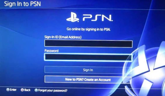 PSN create new user