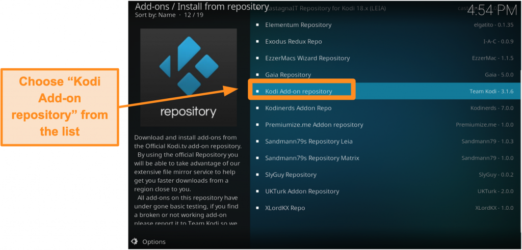 screenshot-of-how-to-install-official-kodi-addon-step-five-click-Kodi-add-on-repository-from-list