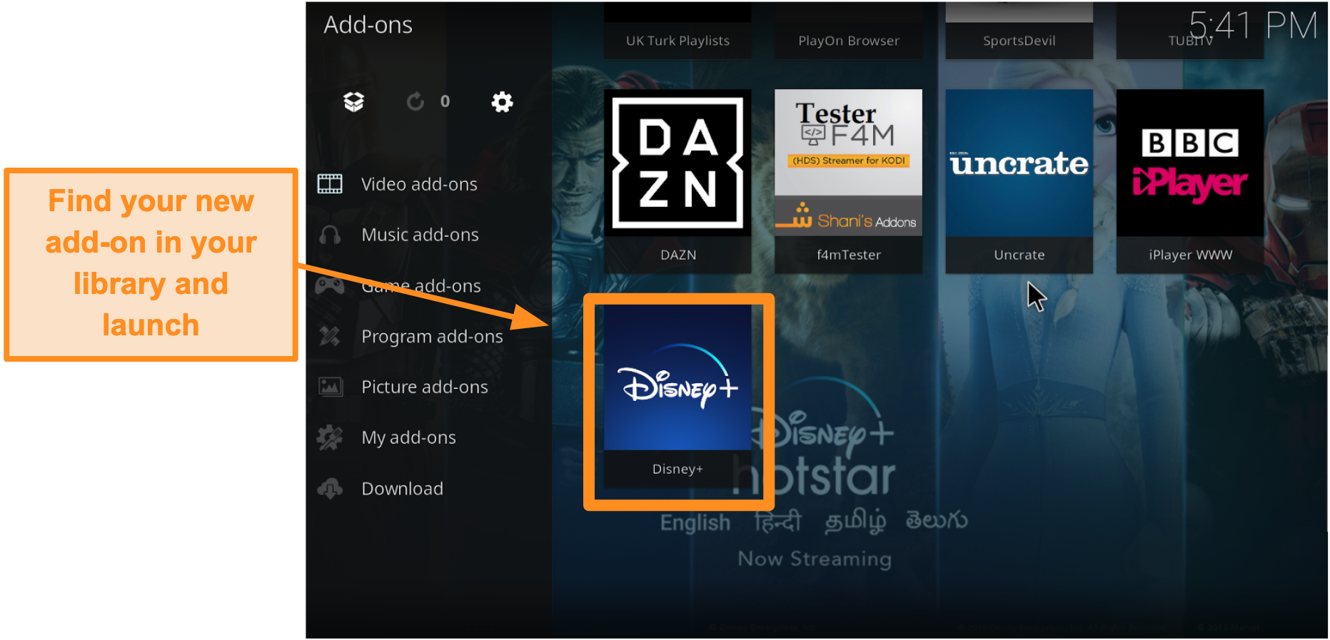 screenshot-how-to-install-third-party-kodi-addon-step-9-double-click-name-box-find-addon-in-library