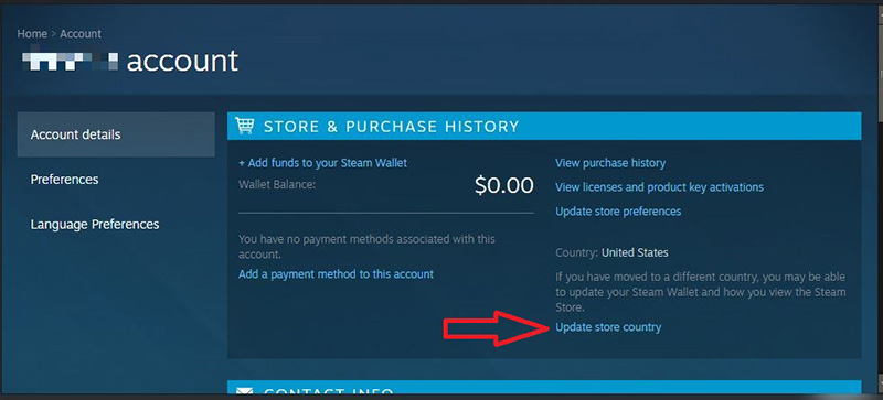 Steam update country store
