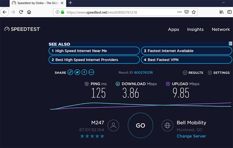 VPN Speed Test
