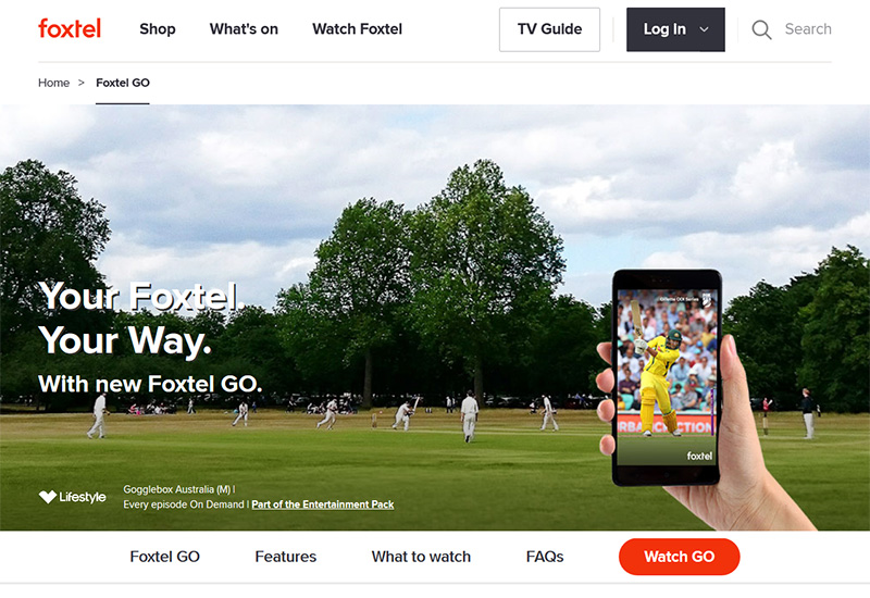 Watch Foxtel Go from anywhere vpn solution