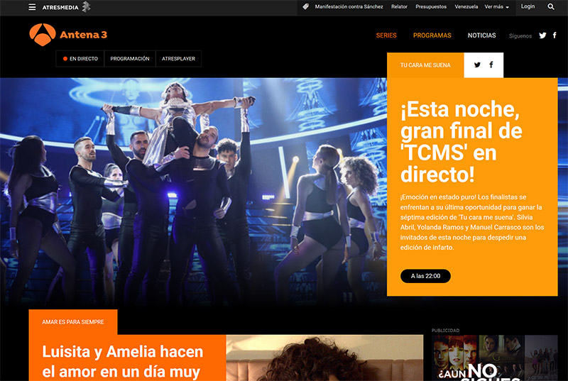 Antena 3 watch outside Spain vpn