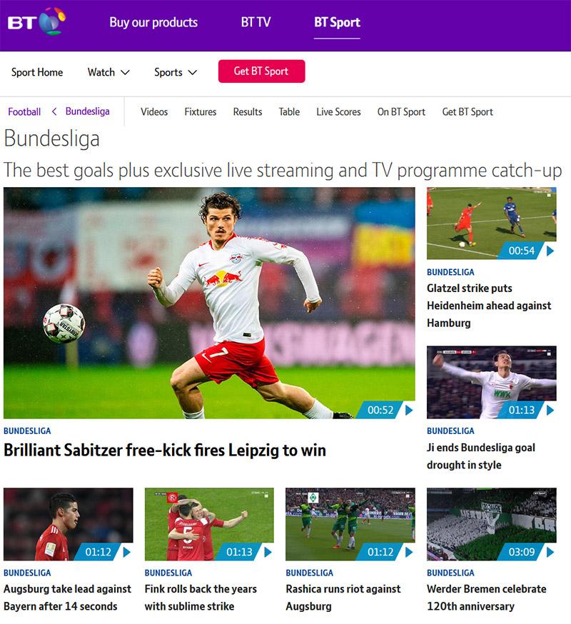BT Sport Bundesliga vpn