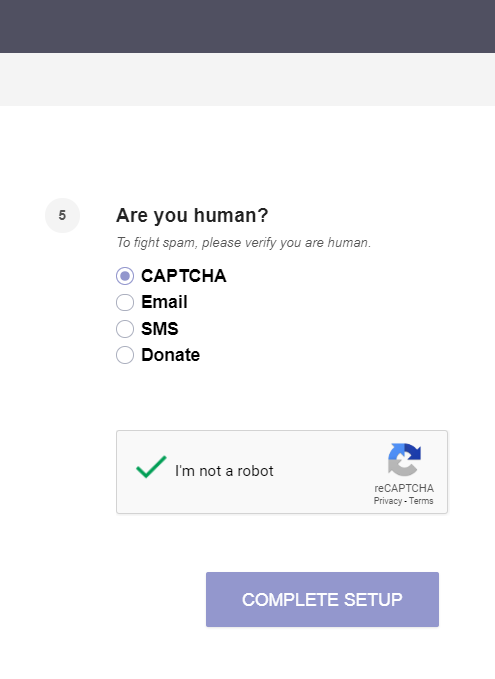ProtonMail captcha verify