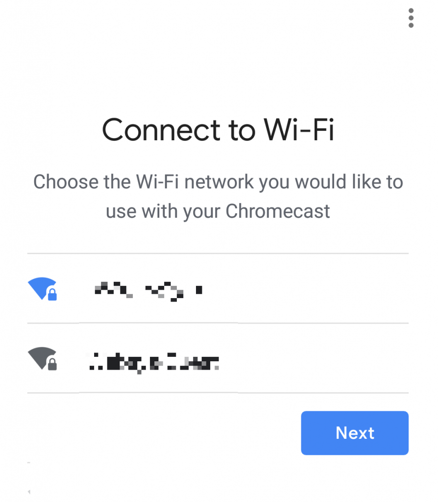 connect Chromecast to your Wi-Fi