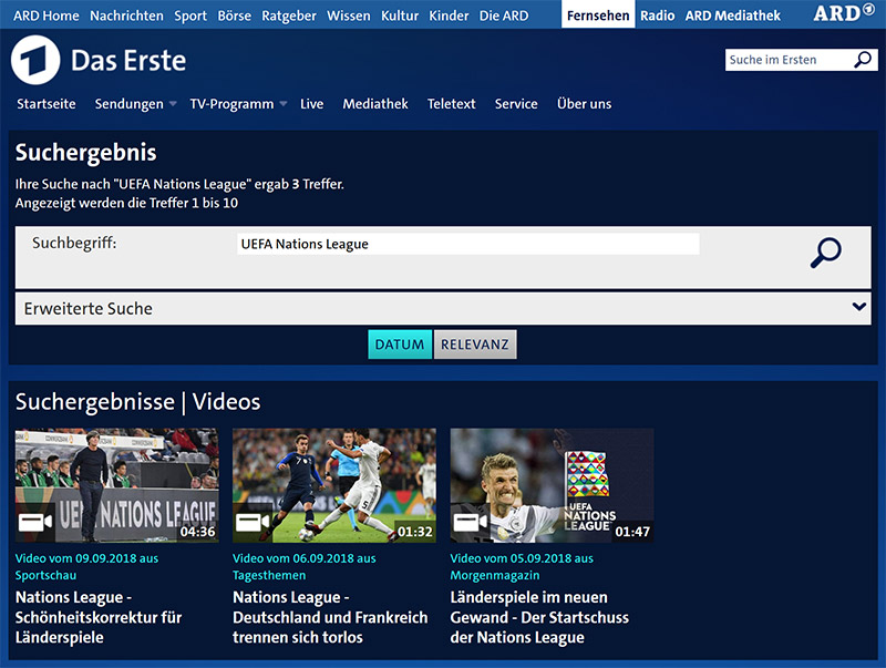 Das Erste UEFA Nations League online vpn