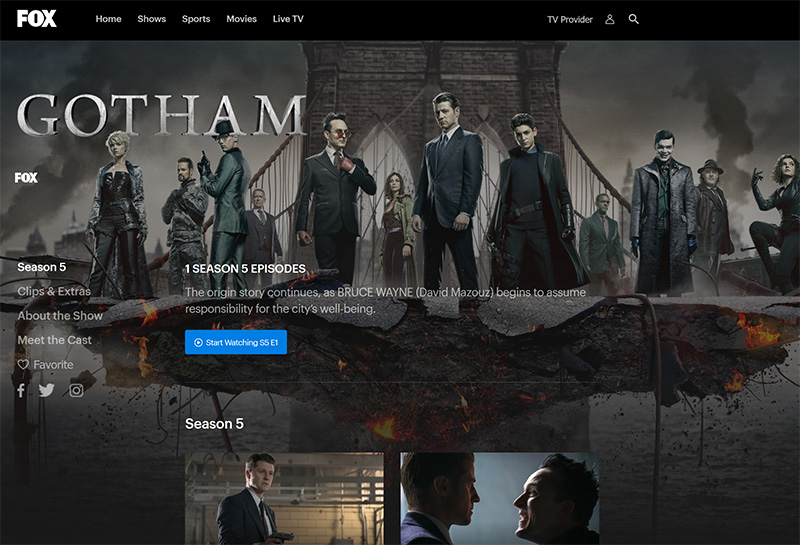 Gotham stream from anywhere with vpn