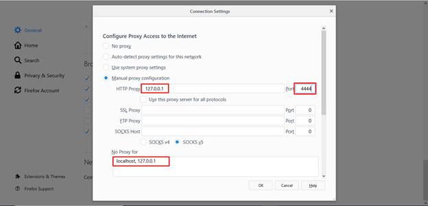 I2P manual proxy configuration