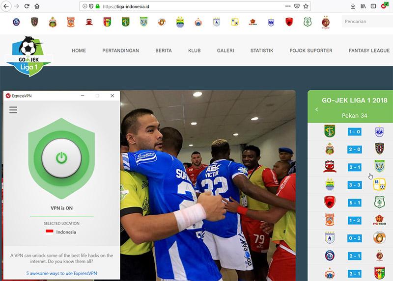 Liga 1 Indonesia Matches stream anywhere vpn