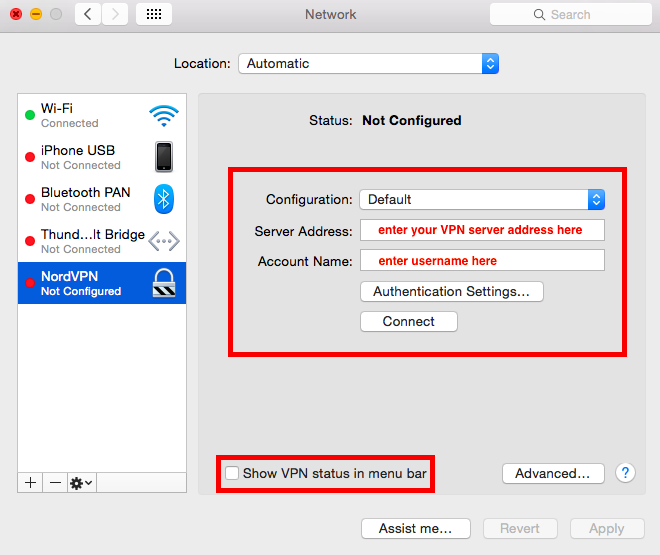 Mac configure your vpn