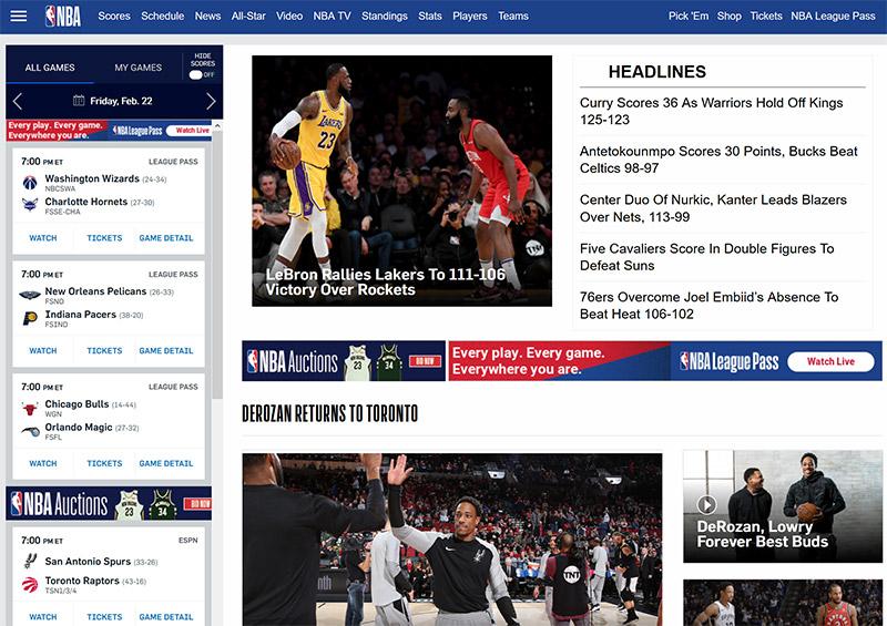 NBA stream online vpn