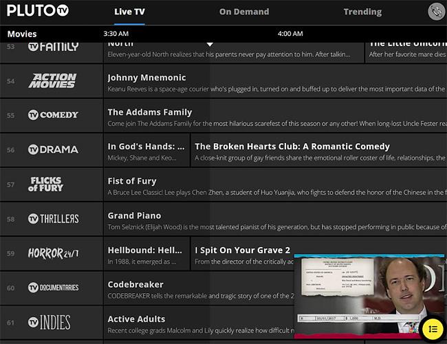 Pluto live TV movies vpn