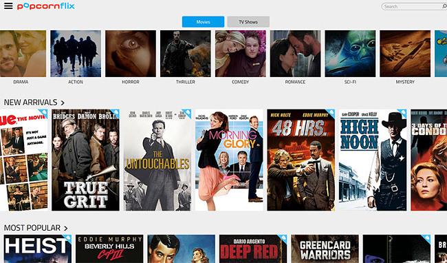PopcornFlix free movies