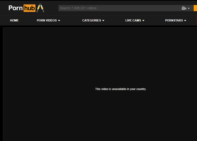 Pornhub blocked geoblock error message