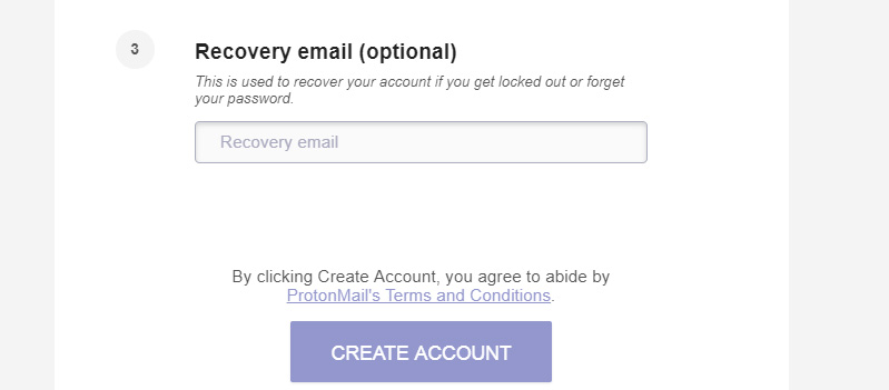 ProtonMail Recovery Email